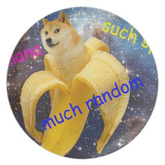 Plato plátano   - dux - shibe - espacio - guau dux