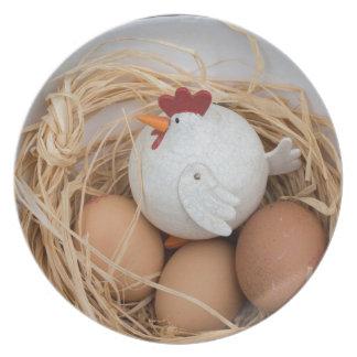 Plato Pollo y huevos