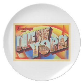 Plato Postal grande del viaje de la letra de New York