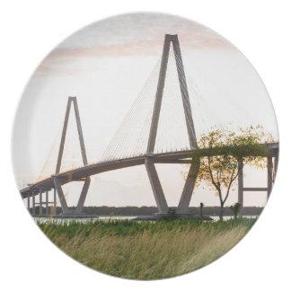 Plato Puente de Charleston Carolina del Sur - río del