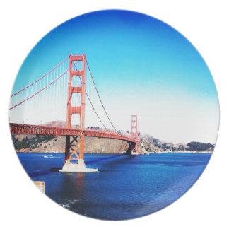Plato Puente Golden Gate California de San Francisco