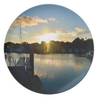 Plato Puesta del sol sobre Cape Cod