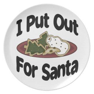 Plato Puse hacia fuera para Santa