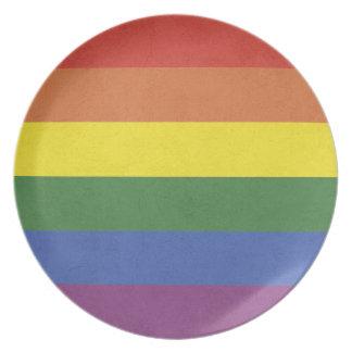 Plato Rayas del arco iris