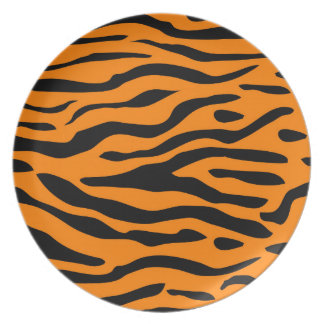 Plato Rayas del tigre - placas rayadas del tigre