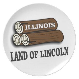 Plato Registros de Illinois de Lincoln