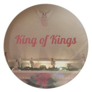 Plato Rey Of rey de la escena de la natividad del