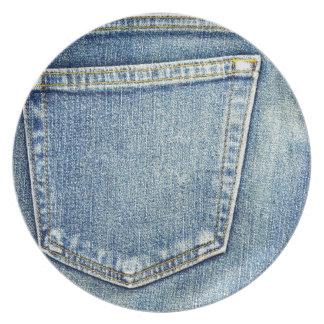 Plato Ricos azules de la moda del estilo de la tela del
