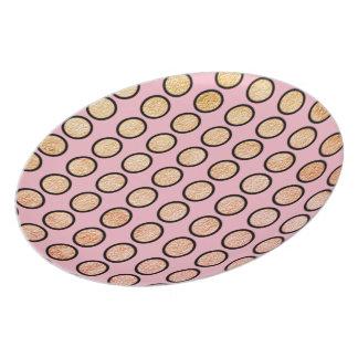Plato S-Multi-Size de MOD-PINK-GOLD-FOIL-DOTS-PLATE ''