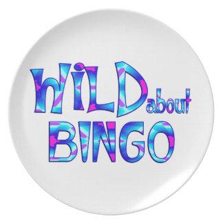 Plato Salvaje sobre bingo