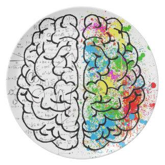 Plato serie del cerebro