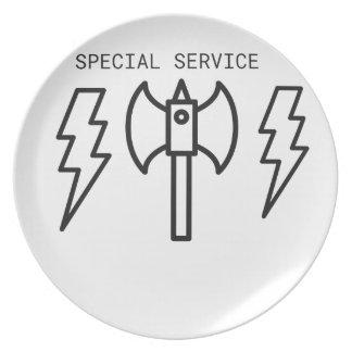 Plato Servicio especial