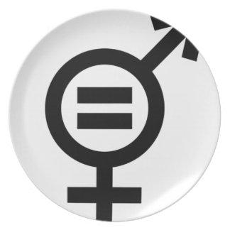 Plato Símbolo de la igualdad de género