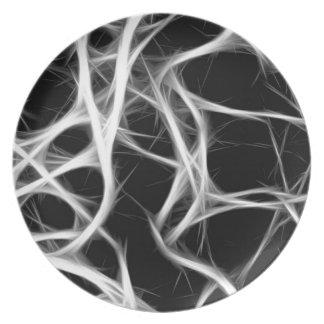 Plato sombras de alambres