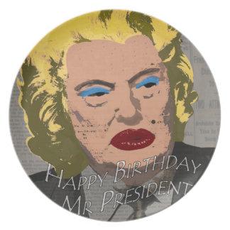 Plato Sr. presidente del feliz cumpleaños
