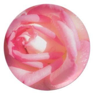 Plato Suavemente rosa