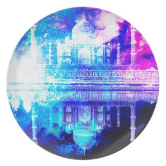 Plato Sueños del Taj Mahal del cielo de la creación
