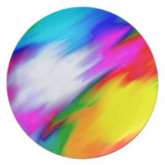 Plato Textura brillante del multicolor de la abstracción