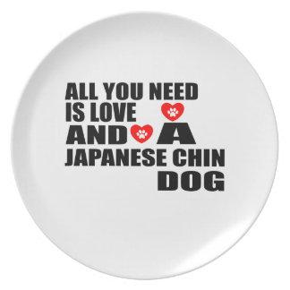 Plato Todos usted necesita diseños de los perros de CHIN