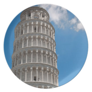 Plato Torre inclinada de Pisa en Italia