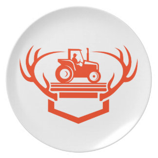 Plato Tractor de la asta de los ciervos de la cola