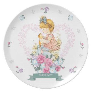 Plato Trullo de la placa #1 de la porcelana de Sarah Kay