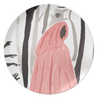 Plato Un paseo en el bosque espeluznante