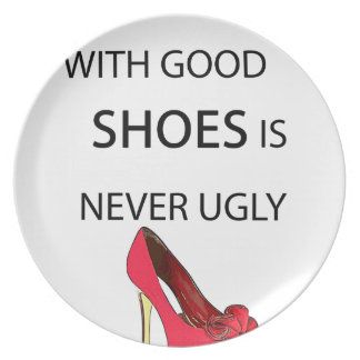 Plato una mujer con los buenos zapatos