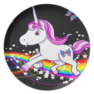 Plato Uni placa de la melamina del arco iris