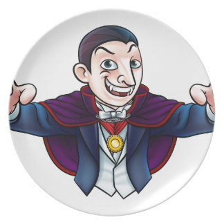 Plato Vampiro de Halloween del dibujo animado
