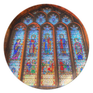 Plato Ventana de la abadía del vitral