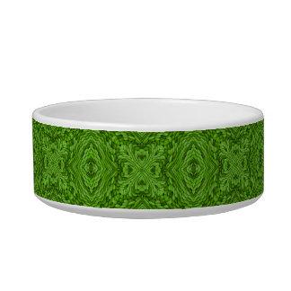 Plato verde del mascota del caleidoscopio del