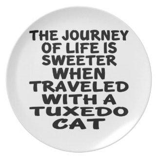 Plato Viajado con el gato del smoking