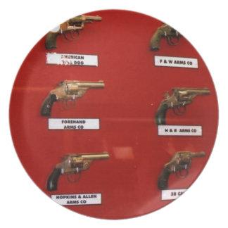 Plato Viejas Seis-pistolas del oeste