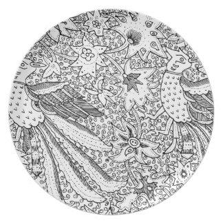 Plato Viejo modelo abstracto de la naturaleza de la