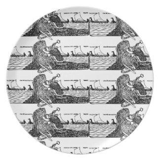 Plato Viking que talla runas