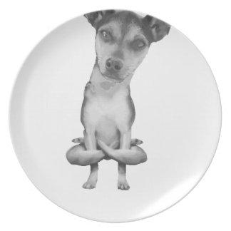 Plato Yogi Doggie cute dog in yoga asana , cool funny