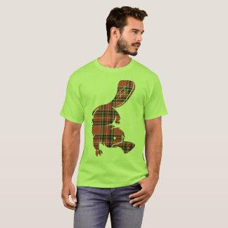 Platypus de la tela escocesa camiseta