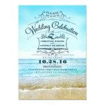 Playa azul del ombre de playa de las invitaciones invitación 12,7 x 17,8 cm