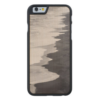 Playa blanco y negro escénica funda de iPhone 6 carved® slim de arce