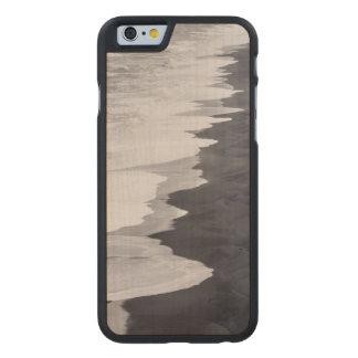 Playa blanco y negro escénica funda fina de arce para iPhone 6 de carved