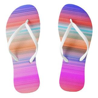 Playa colorida de la raya chanclas