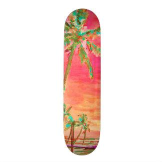 Playa/coral/trullo hawaianos del vintage de patines personalizados