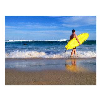Playa de Australia Bondi de la vida de la resaca Postal