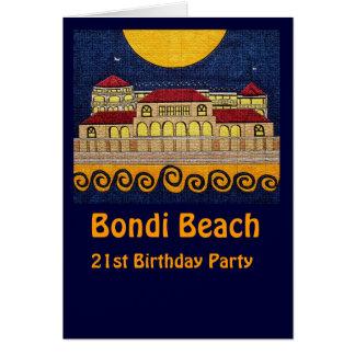 Playa de Bondi, 21ra tarjeta de la fiesta de cumpl
