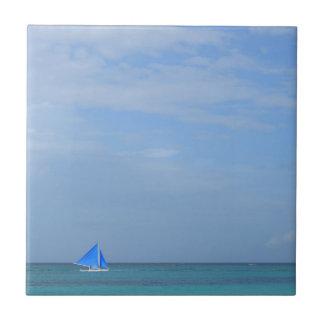 Playa de Boracay Azulejo Cuadrado Pequeño
