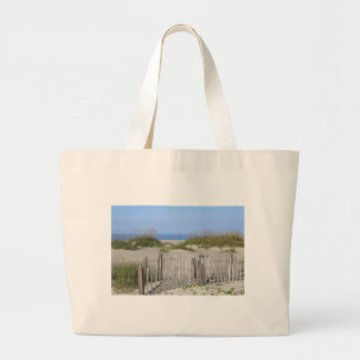Playa de Caswell, tierra del NC y paisaje marino Bolso De Tela Gigante