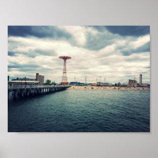 Playa de Coney Island Posters