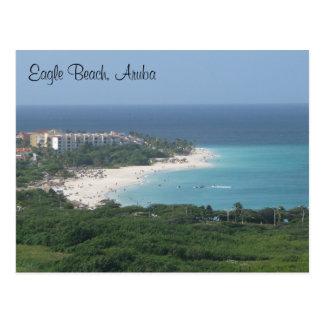 Playa de Eagle, Aruba, en la postal