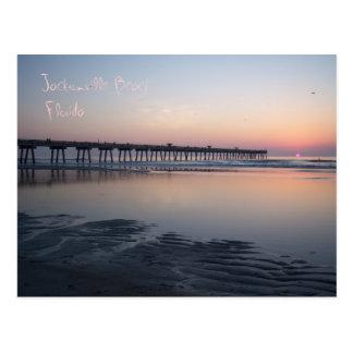 Playa de Jacksonville, la Florida - salida del sol Postal